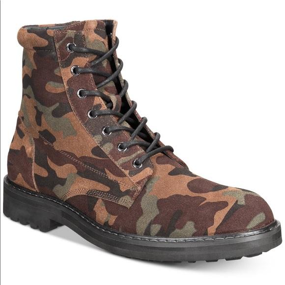 de5b71292efbf0 INC International Concepts Shoes   Inc Mens Wilder Camo Boots Men 10 ...